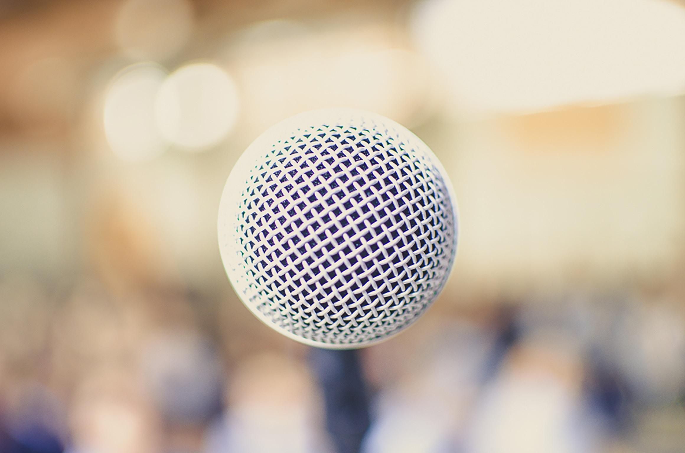 Presentere innhold foran publikum
