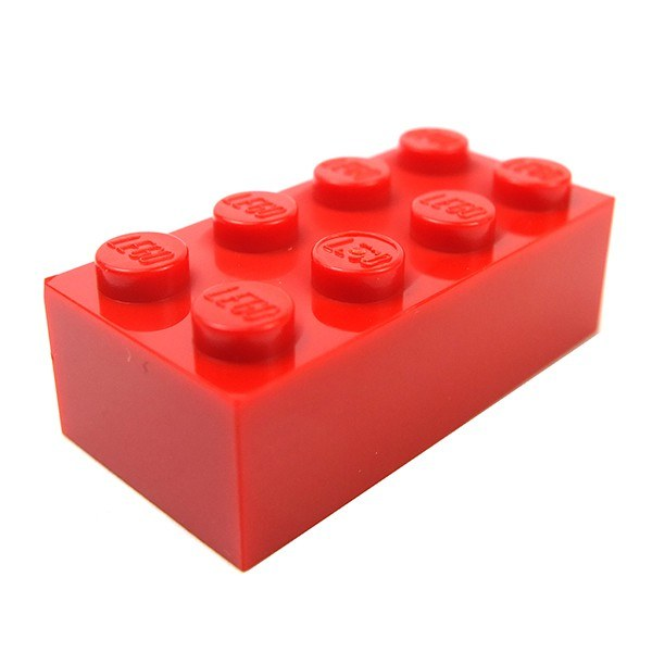 Lego Spare Parts Brick 2X4 Red
